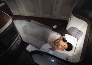 The big question is whether to get a good night's sleep in Cathay First's beds on the outbound or return.
