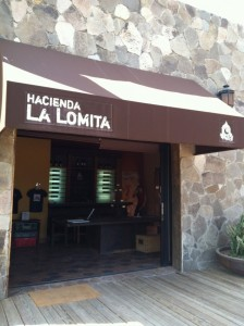 Hacienda La Lomita sits on a hilltop and offers beautiful views of the surrounding vineyards.