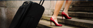 With a baggage shipping service, there's no need to lug your baggage through the airport.