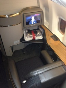 My seat in upright position