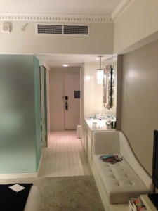 Walkway to the bathroom