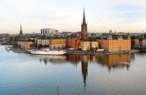 Riddarholmen is a small islet in central part of Stockholm.
