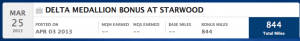 The Delta miles I earned from my Starwood stays.