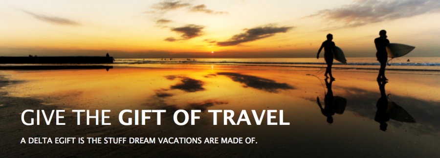 Delta eGift certificates can be redeemed for Delta-oeprated or codeshare flights.