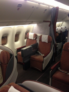 Overview of the business class cabin.