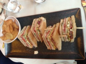 One of my favorite club sandwiches ever from the bar.