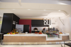 Gourmet pizzeria 800 Degrees will use the exact same ingredients as those in their regular locations.
