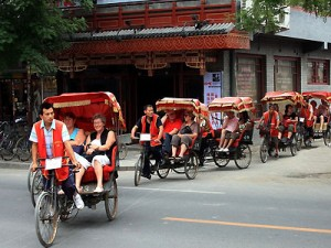 Take a rickshaw tour of one of Beijing's traditional hutongs.