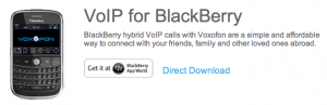 Voxofon offers hybrid VoIP calls and messaging for BlackBerrys.