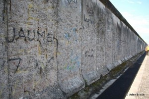 Once 100 miles long, a rare stretch of the Wall still remains at the Berlin Wall Memorial.