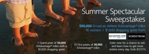 Enter to win 500,000 American AAdvantage miles.