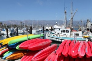 Kayaks at Santa Barbara