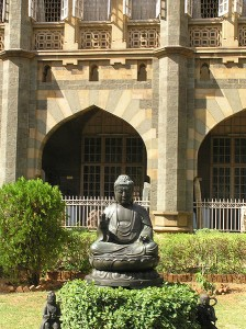A Buddha on the grounds of the Prince of Wales museum.