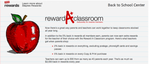 Staples Reward A Classroom