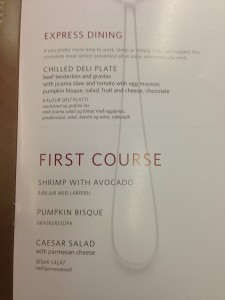 First Course Options.