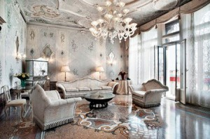 Royal suite at the Bauer Il Palazzo.