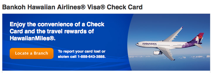 Bank Of Hawaii Credit Card Sign On >> Updated Options for Earning Airline Miles from Debit CardsThe Points Guy