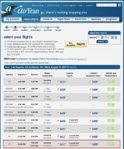 Flights from Los Angeles to Atlanta that don't show up on Southwest.