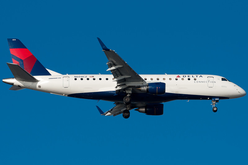 Delta E-175.. one of the more comfortable regional jets in the sky