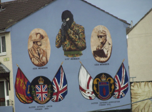 Protestant Mural on the Black Cab Tour.