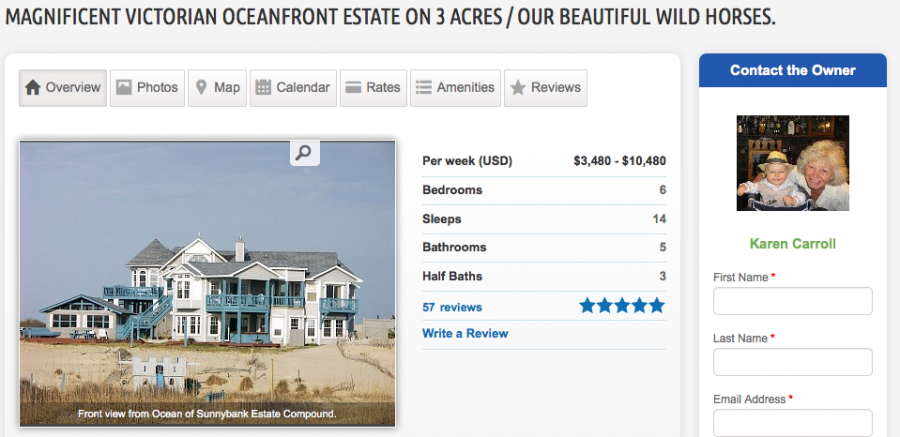 This beachside home in Corolla, NC, starts at $3,480 per week.