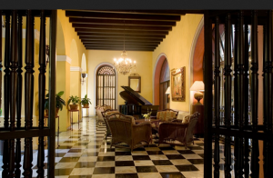 The El Convento hotel was once a Carmelite convent.
