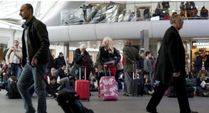 Train travelers were delayed at King's Cross Station in London (Photo credit: Getty Images).
