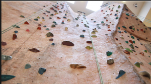 There is a 40-foot rock climbing wall at the Venetian Las Vegas.