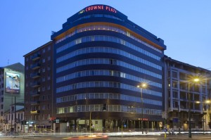 Exterior of the Crown Plaza Milan.