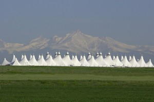 The Denver Airport.