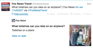 @FoxNewsTravel is giving handy liquid advice.