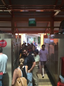 We stood in line at the hawker stall with the biggest line.