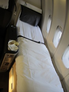 The bed portion of the seat.