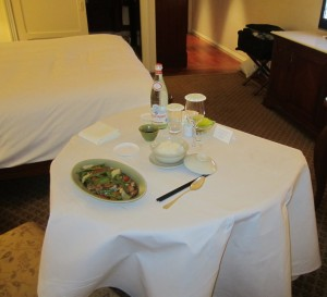 Just a quick meal from room service for dinner the first night.