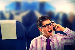 Hopefully you won't be seated next to this guy.