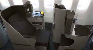 Garuda's 777-300ER business class looks nice too.