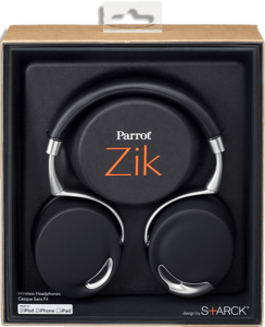 Eliminate 98% of outside sound with Parrot Zik Headphones.