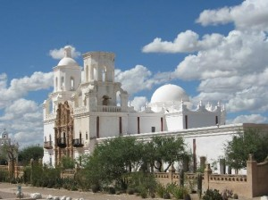 The Mission San Javier del Bac is just 10 miles south of downtown Tucson.