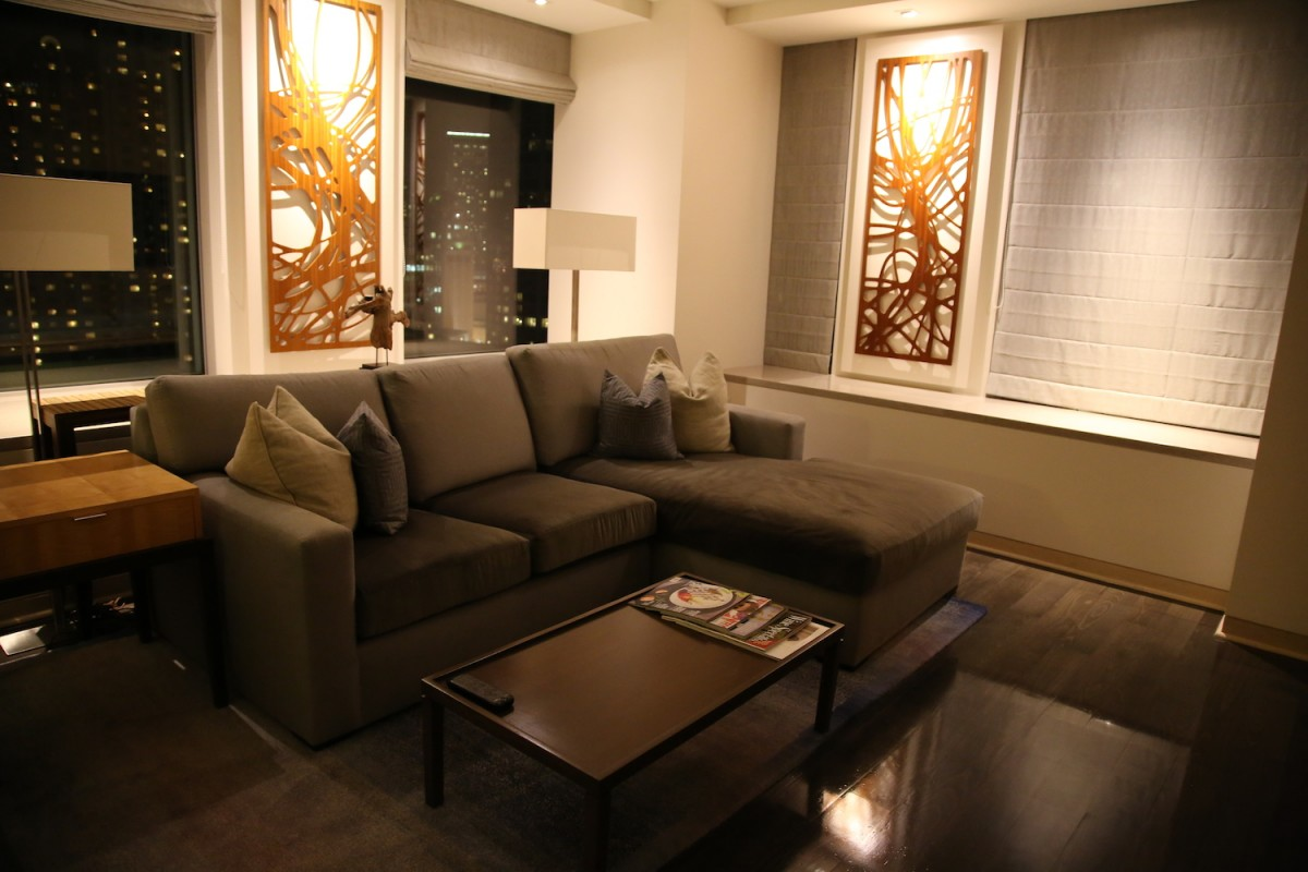 The living room of my Astor Suite.