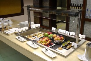 The buffet spread was pretty paltry.