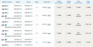 US Airways doesn't seem to be doing quite as good a job at pulling in codeshared flights.