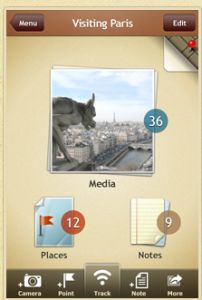 Organize your photos, video, and notes on Trip Journal.