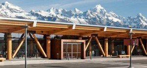 Jackson Hole's airport is the only one in the US located in a national park.