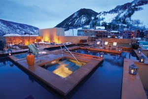 Rooftop hot tub at The Little Nell