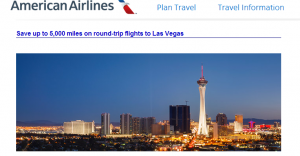 Save 5,000 miles on roundtrip award tickets to/from Las Vegas and Los Angeles.
