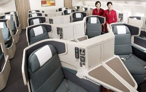 Say hello to Cathay Pacific business class with your US Airways miles now.