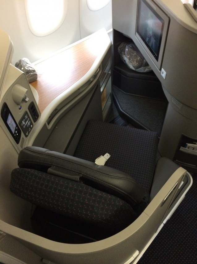 Not the biggest first class seat, but certainly comfortable for a transcend and better than most other options