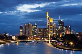 "The Frankfurt skyline is often called ""Mainhattan"" after NYC's Manhattan, but situated on the Main River."