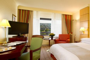 A superior room at the IHG Frankfurt.