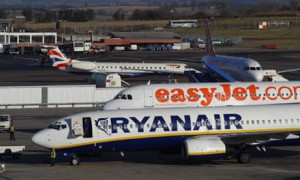 Ryan Air and Easy Jet get socked with large fines for mis-selling travel insurance.